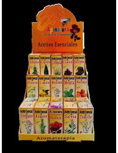 Expositor de Aceites Esenciales (30 aceites diferentes)