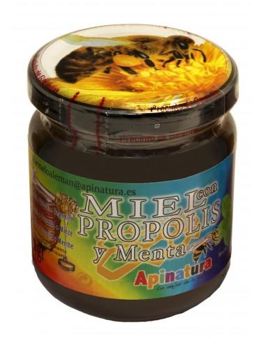 Miel con Própolis y Menta 250 gr