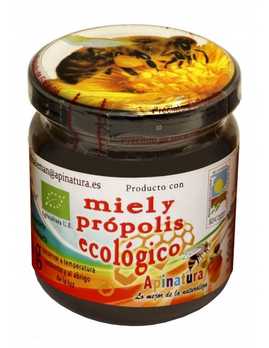 Miel con própolis ecológico 250 gr