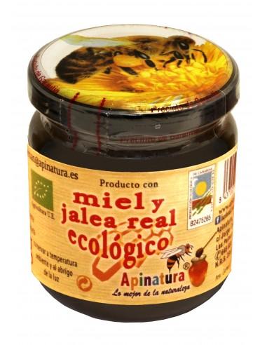 Miel con jalea real ecológica 250 gr