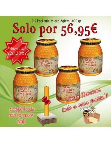 0.5 Pack ecológico de mieles 1000 gr