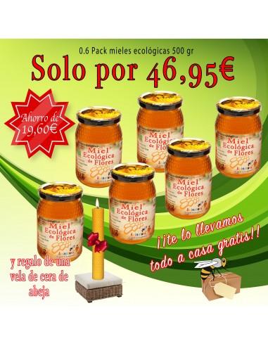 0.6 Pack de mieles ecológicas de 500 gr