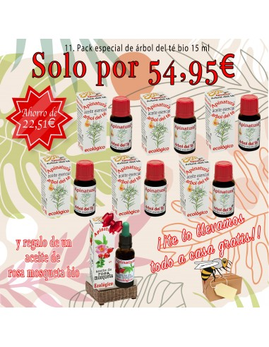 0.10 Pack aceite esencial árbol del té bio 15 ml